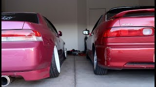 Camber kit install on the Integra!