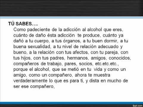 La codificación del alcohol y la consecuencia