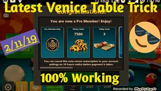 Latest New Venice Table Trick||100% Working With Proof||By AZIZ 8BP.