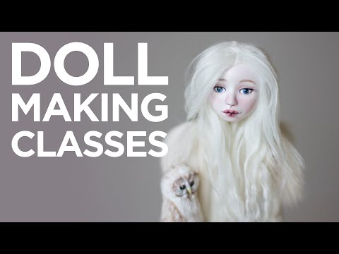 Art doll tutorial   Doll making online courses with Adele Po.
