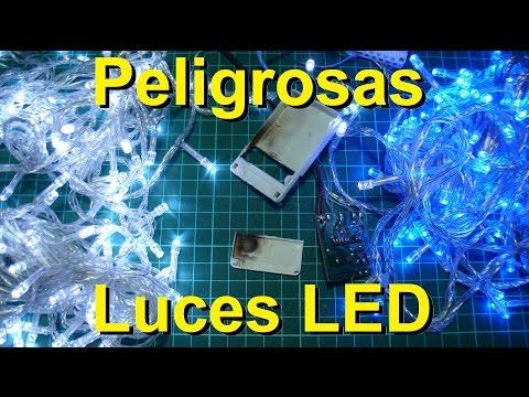 Peligrosas luces led de navidad