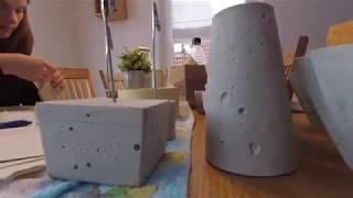 Beton - do it yourself - Basteln mit Beton - making your own decoration with concrete