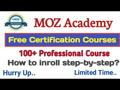 Free Courses With Free Certificate/Free Online Courses/Moz ...
