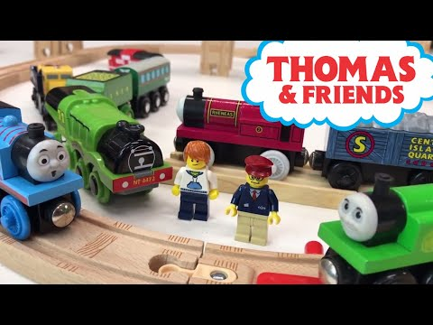 Thomas Wooden Railway Play and Unboxing Rare Learning Curve Items