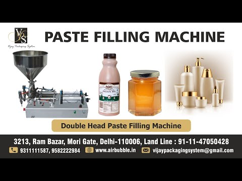 Paste Filling Machine - Single Head