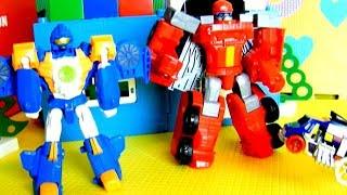 Тоботы - Трансформеры и игрушечные машинки. Видео с игрушками