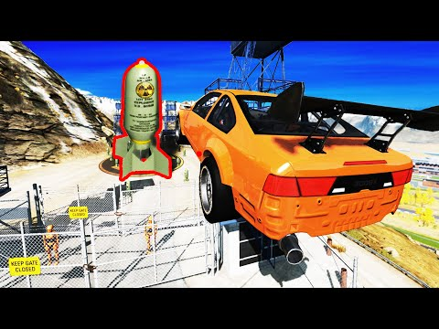 EXPERIMENT - Cars vs Nuclear Bombs #6 - BeamNG Drive | CrashTherapy