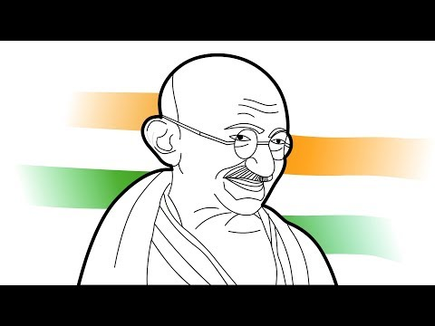 How To Draw Gandhiji - Easy Drawing- Step By Step - Art For Kids