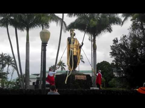 ハワイ留学生活 カメハメハデー2016 レイ ドレーピング セレモニー