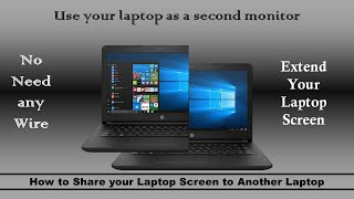 How to Share your Laptop Screen to Another Laptop | Screen Share between 2 laptops | Wireless screen