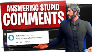 Responding to Hate Comments... Fortnite Edition