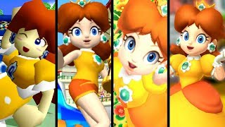 Super Mario Evolution of DAISY'S VOICE 2000-2017 (N64 to Switch) - dooclip.me