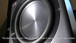 Samsung Sound+ SWA-W700 Wireless Subwoofer and HW-MS750 Soundbar - Bass Test
