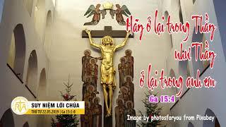 Suy Niệm Lời Chúa, Thứ Tư 22052019