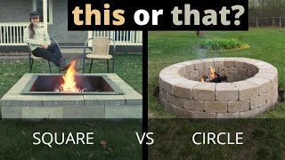 Circle Vs Square Fire Pit | This Or That DIY | Concrete And Stone Fire Pits