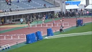 えひめ国体・陸上競技/少年女子A400mハードル予選4組、1着:大城楓奈(山形)59秒51