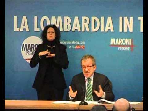 Conferenza Stampa Milano   Roberto Maroni