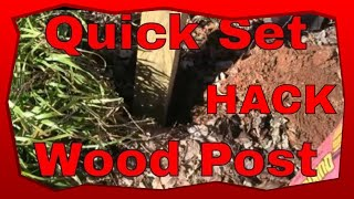 How To Set A Pressure Treated 4x4 Wood Post, Carpentry Tips