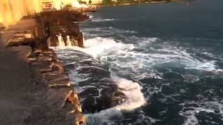 Port ouest,jetée nord,sous les feux orangés de tonton Hélio