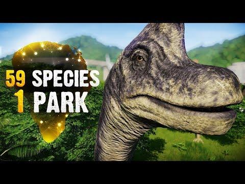 59 SPECIES, 1 PARK! | Part 5 (Jurassic World: Evolution All-Species Park)