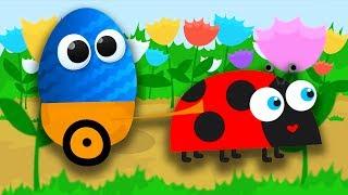 Анимационные Мультики. Открываем Киндеры с игрушками Барбоскины, игрушки Фиксики, игрушки Смешарики