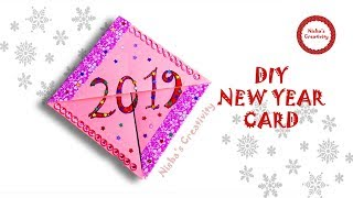 how to make new year card handmade new year pop up card