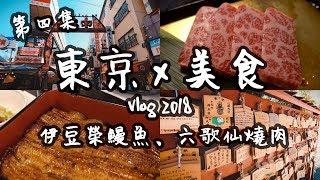 【東京Vlog#4】日本美食自由行:六歌仙燒肉、伊豆榮鰻魚、上野公園、新宿 | 旅遊攻略2018