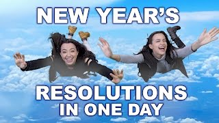 New Year's Resolutions in One Day - Merrell Twins