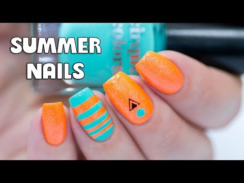 EASY NEON SUMMER NAIL ART - Cirque Colors Vice 2017