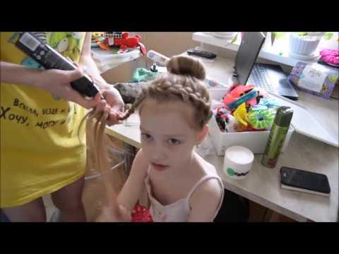 Прическа для девочки на длинные волосы/Hairstyle for girls long hair
