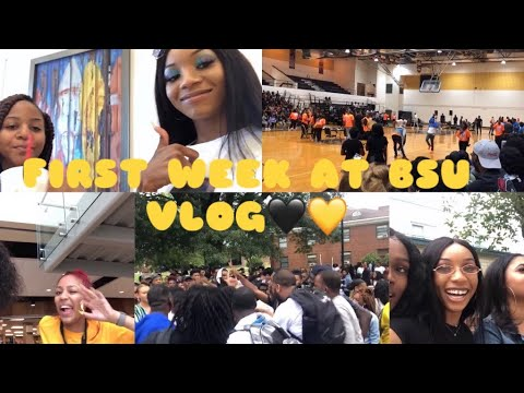 FIRST WEEK AT BSU VLOG (it was honestly LITTY!!)