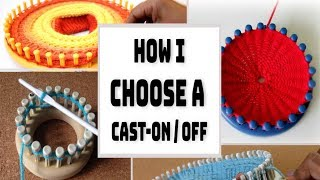 How To Choose A LOOM KNITTING Cast-on Bind-off | Tell You Tuesday EP3