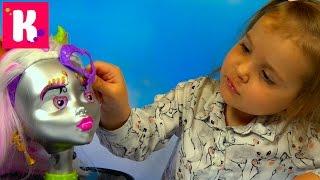 Монстер Хай - сделай причёски и макияж кукле / Monster High/ Обзор игрушки