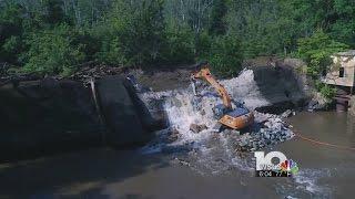 101-year-old Pigg River Dam under demolition