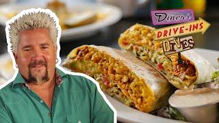 Guy Fieri Tries An INSANE Vegan CRUNCHWRAP (from #DDD)   Food Network