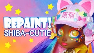 Repaint! Shiba-cuties Harajuku Fashion Decora Kei Kami doll