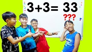 Hunter Kids Go To School Learn Colors Math (3 + 3 = 33 ) | Classroom Funny Nursery Rhymes