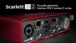 Focusrite Scarlett 2i2 deuxième génération - Video