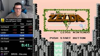 *NEW WORLD RECORD* (42:11) The Legend Of Zelda   Second Quest 100%
