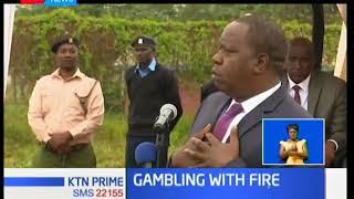 Matiangi leads the destruction of gambling equipment in Nairobi