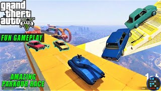GTA V | Amazing parkour race with full of scams