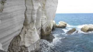 preview picture of video 'Rosh HaNikra grottoes - Israel nature reserves and national park'