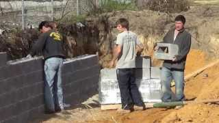 Southeastern Construction builds Retaining Wall with Recycled Concrete