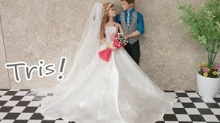 Divergent Tris Barbie Doll Wedding dress芭比娃娃婚礼礼服発散トリスバービー人形のウェディングドレス