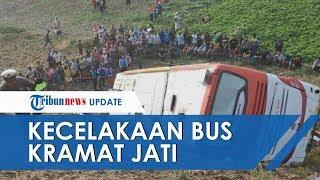 Kecelakaan Tunggal, Bus Jurusan Jakarta Bali Terperosok di Tol