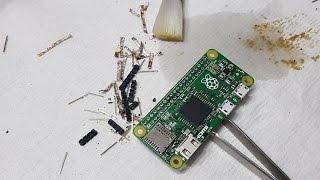 Desolder  Remove GPIO Pins From A Raspberry Pi Zero