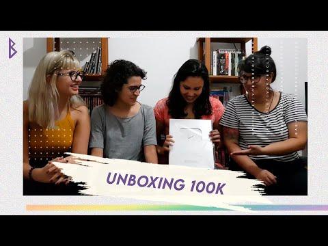 Babu Coletivo unboxing YouTube 100k Creator Award