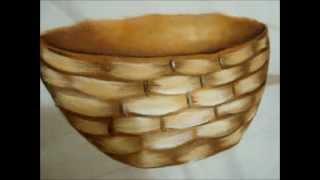 Aprenda a pintar lindas cestas de frutas