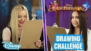 Descendants 3   Speed Drawing Challenge With Dove Cameron & Sofia Carson ✨   Disney Channel UK