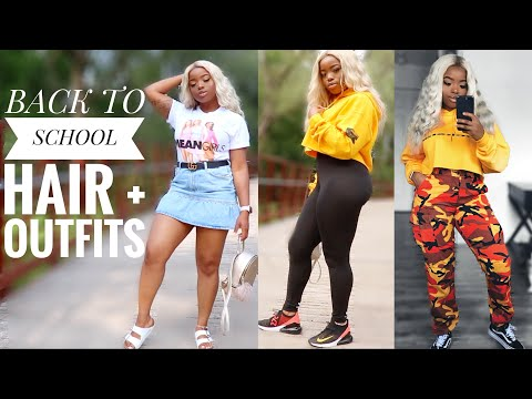 AFFORDABLE BACK TO SCHOOL TRY ON HAUL & HAIRSTYLE || ft. Klaiyi Hair